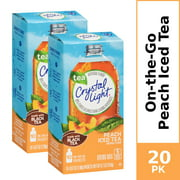 (20 Packets) Crystal Light Peach Iced Tea Sugar Free, On-The-Go, Low Caffeine Powdered Drink Mix