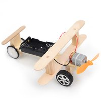 Wood Electric Aircraft Electric Glider DIY Kit Kids Toy Airplane DIY Kit Electric Wooden Airplane Model for Children Flying Model Assembled Experiment DIY Model Building Kits