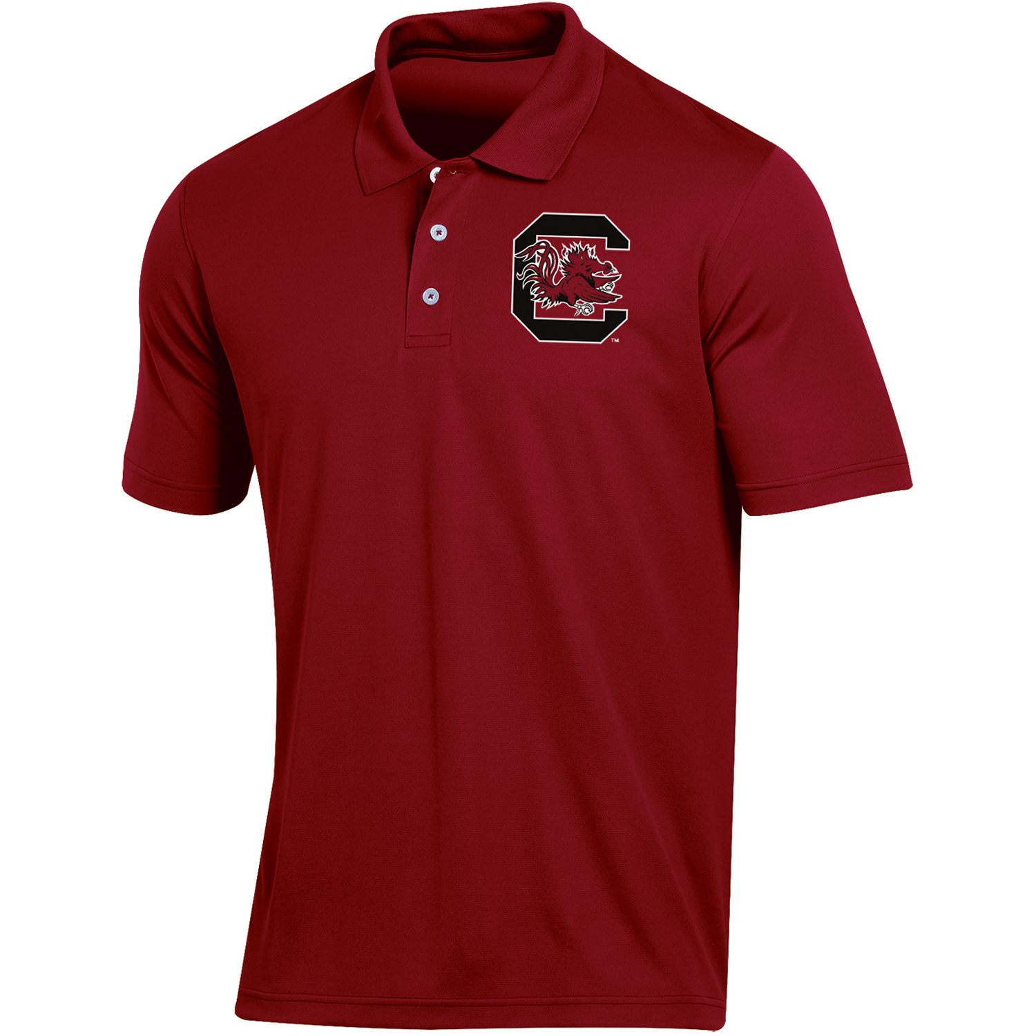 Men's Russell Garnet South Carolina Gamecocks Classic Fit Synthetic Polo