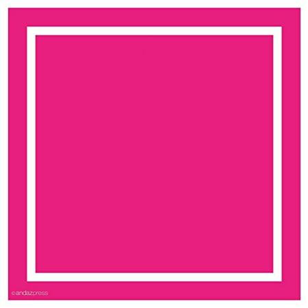 fuchsia solid color square gift label stickers 40 pack walmart com