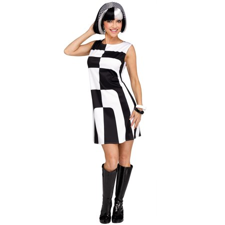 Mod 60's Girl Adult Costume (60's Women's Halloween Costumes)