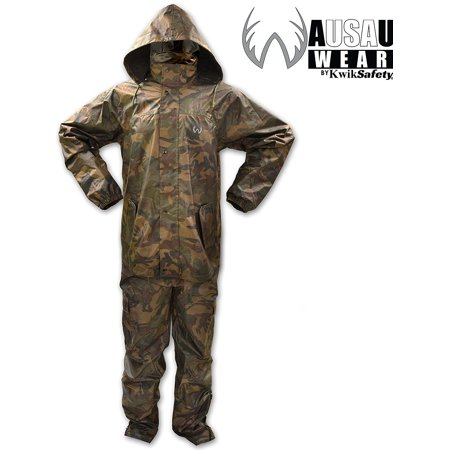 8a9f0263e9c9b WausauWear by KwikSafety Camouflage Rain Suit, Pant & Jacket set, All  Purpose, All Sport, Waterproof, Windproof, Hooded, Breathable, Lightweight,  Hunting, ...