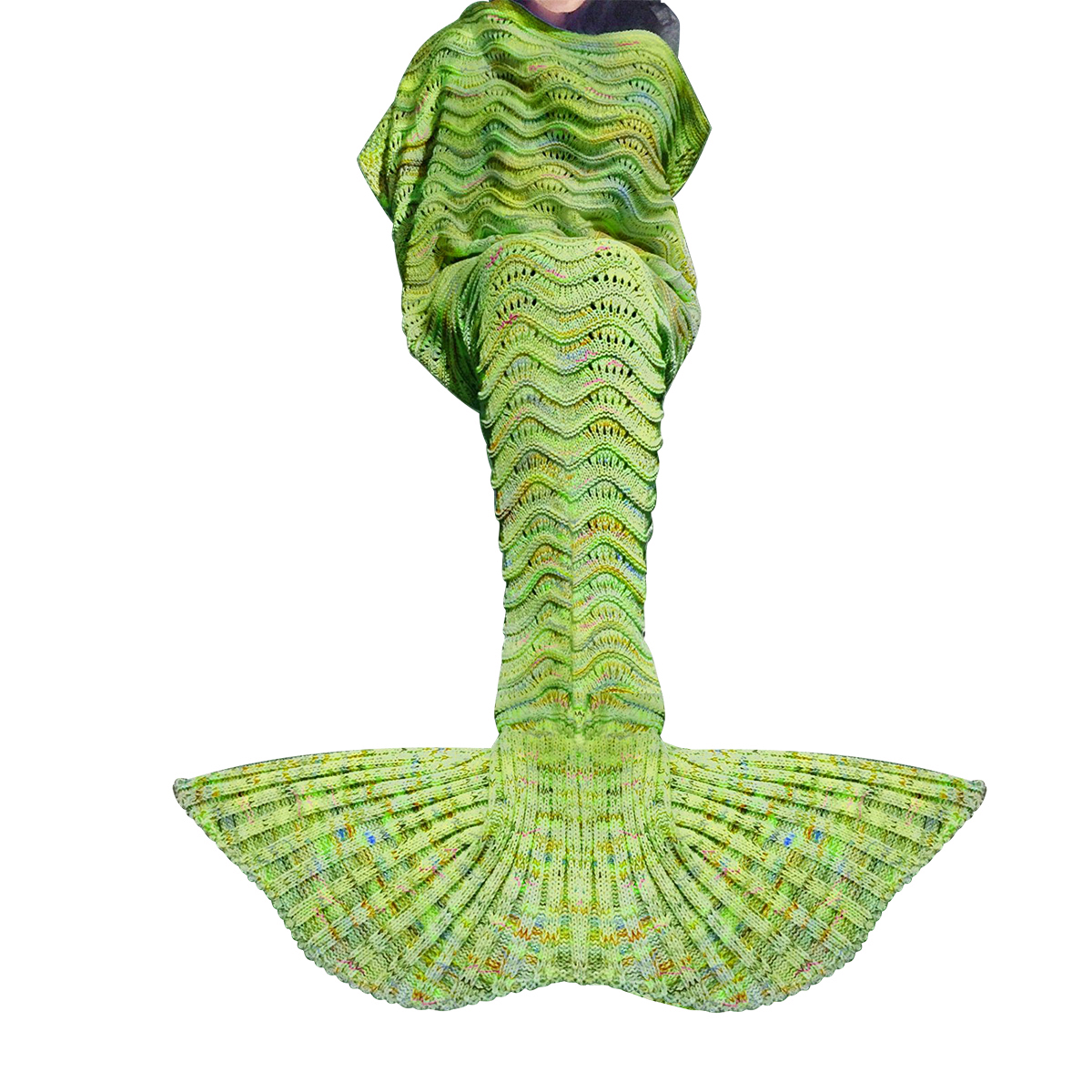 Click here to buy Knitted Mermaid Tail Blanket Crochet Knit Mermaid Blankets for Adults All Season Soft Warm....