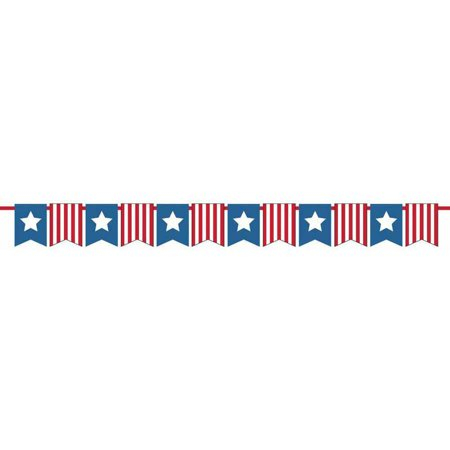 patriotic red white and blue pennant banner. Black Bedroom Furniture Sets. Home Design Ideas