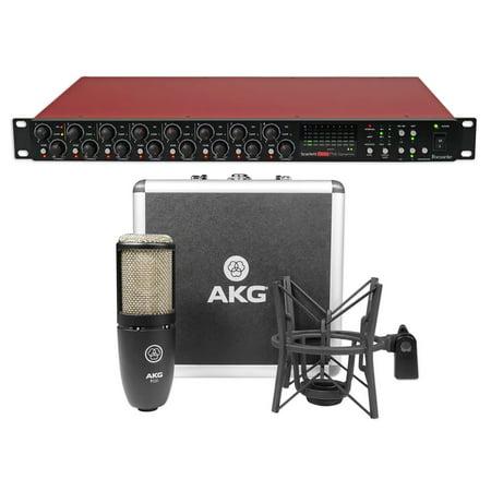 Pro Channel Tube Mic Preamp - Focusrite Scarlett OctoPre Dynamic 8-Channel Microphone Mic Preamp+AKG Mic+Case