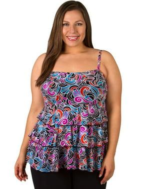 40f5aae1d12 Product Image Plus Size Women's Swirl Underwire Swimwear Tankini Top Size:  20W