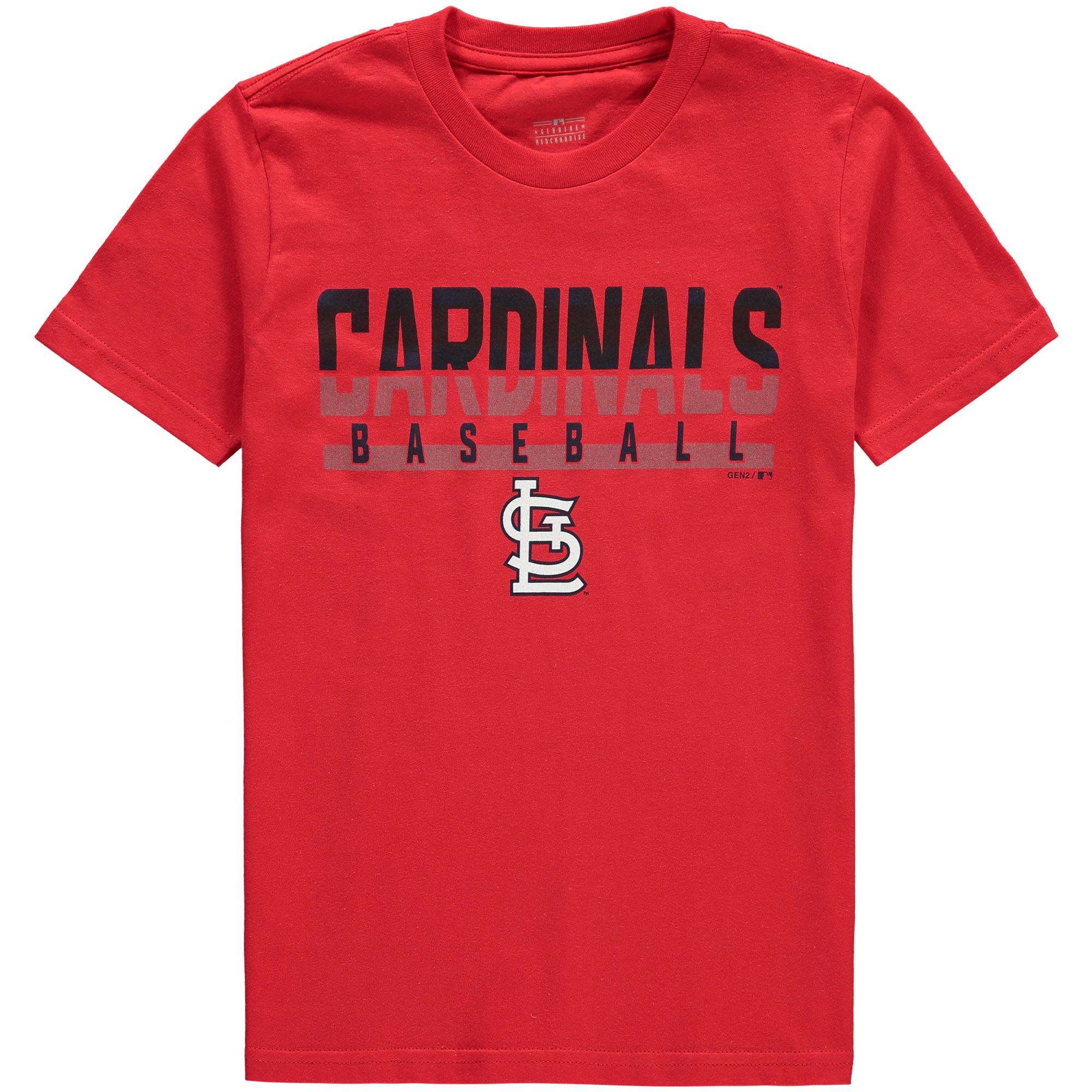 St. Louis Cardinals Youth Wild Card Cotton T-Shirt - Red