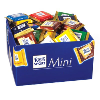 Ritter Sport Mini Chocolate Squares: 84 Count