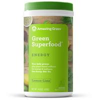 Amazing Grass Energy Green Superfood Powder, Lemon Lime, 60 Servings