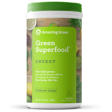 Amazing Grass Energy Green Superfood Powder, Lemon Lime, 60 Servings (Amazing Grass Energy Lemon Lime)
