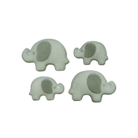 Elephant Family Animals Sugar Decorations Toppers Cupcake Cake Cookies Birthday Favors Party 12 Count](Elephant Party)