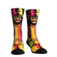 Rock Em Elite Macho Man Randy Savage Licensed WWE Crew Socks  L/XL