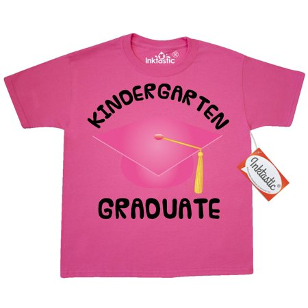 Inktastic Kindergarten Graduation Day Girls Youth T-Shirt Graduate Grad Gift Childs Kids Cute Hat Pink School Tee Children Child Tween Clothing Apparel Teen Hws - Kids Graduation
