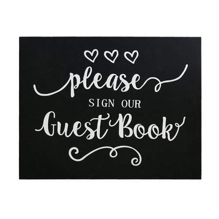 jennygems wood sign wedding & party decor please sign our guest book