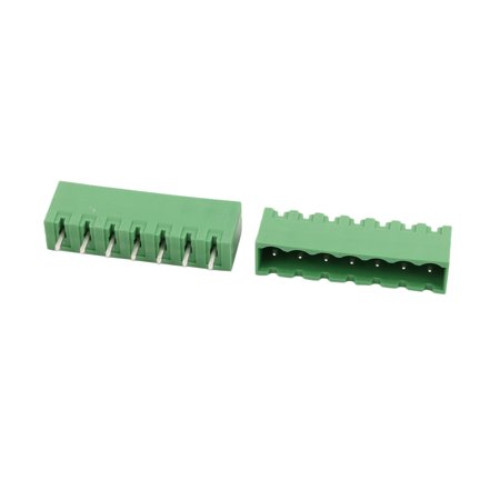 10Pcs LZ1V 5 08mm Pitch 7P PCB Mounting Terminal Block Wire