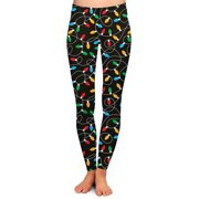 Two Left Feet Women's Standard Holiday Leggings, As Shown, L/XL