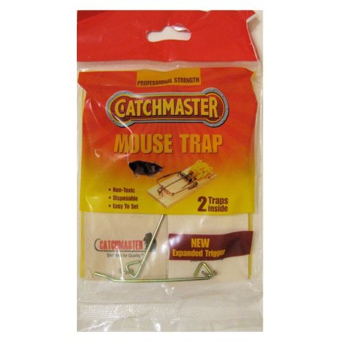 Catchmaster Mouse Trap. Non-toxic Easy to Set 2 Professional Strength Traps