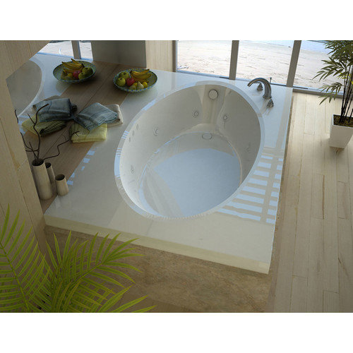 Spa Escapes Bermuda 83.38'' x 42.5'' Rectangular Whirlpool Jetted Bathtub with Drain