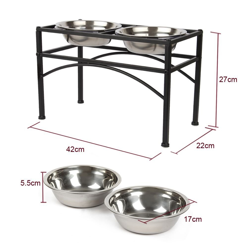 how to build raised dog bowl stand