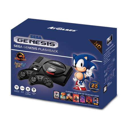 Sega Genesis Flashback, Black, FB3680 (Plug And Play Sega Genesis 80 Games)