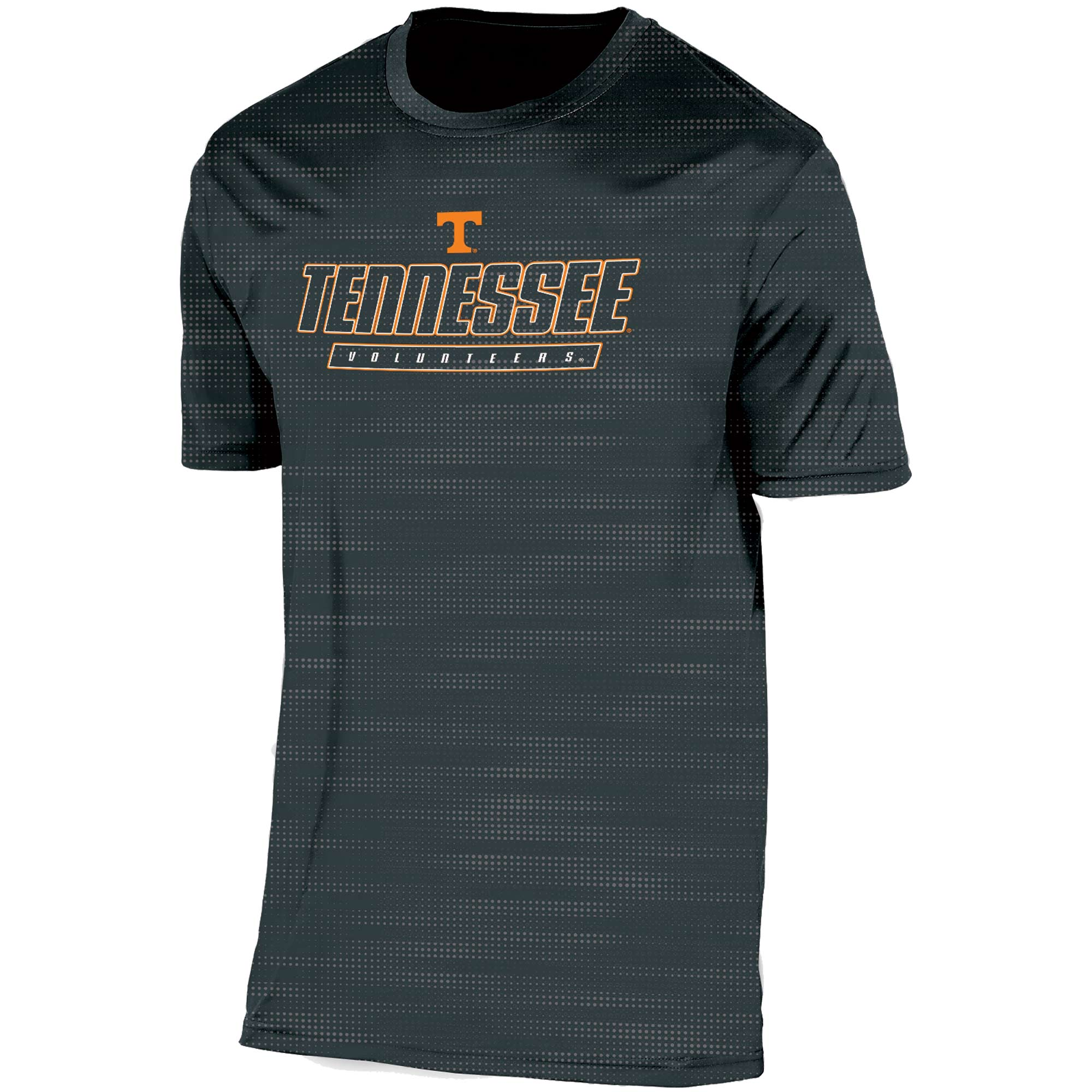 Men's Russell Black Tennessee Volunteers Embossed Synthetic T-Shirt