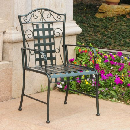 International Caravan Mandalay Iron Patio Chair - Set of