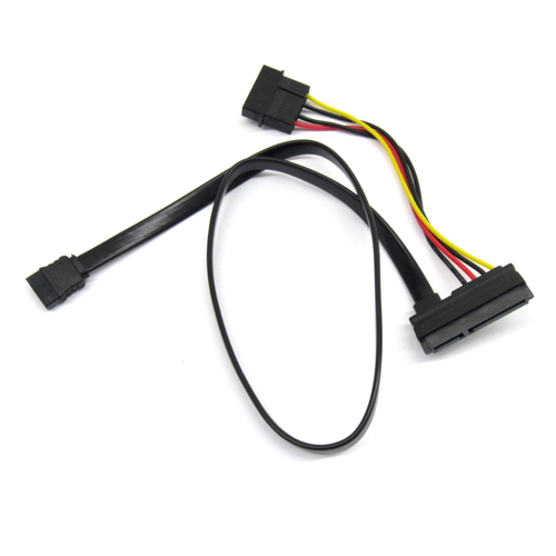 22 Pin SATA with 4 Pin Power and Data Cable Assembly