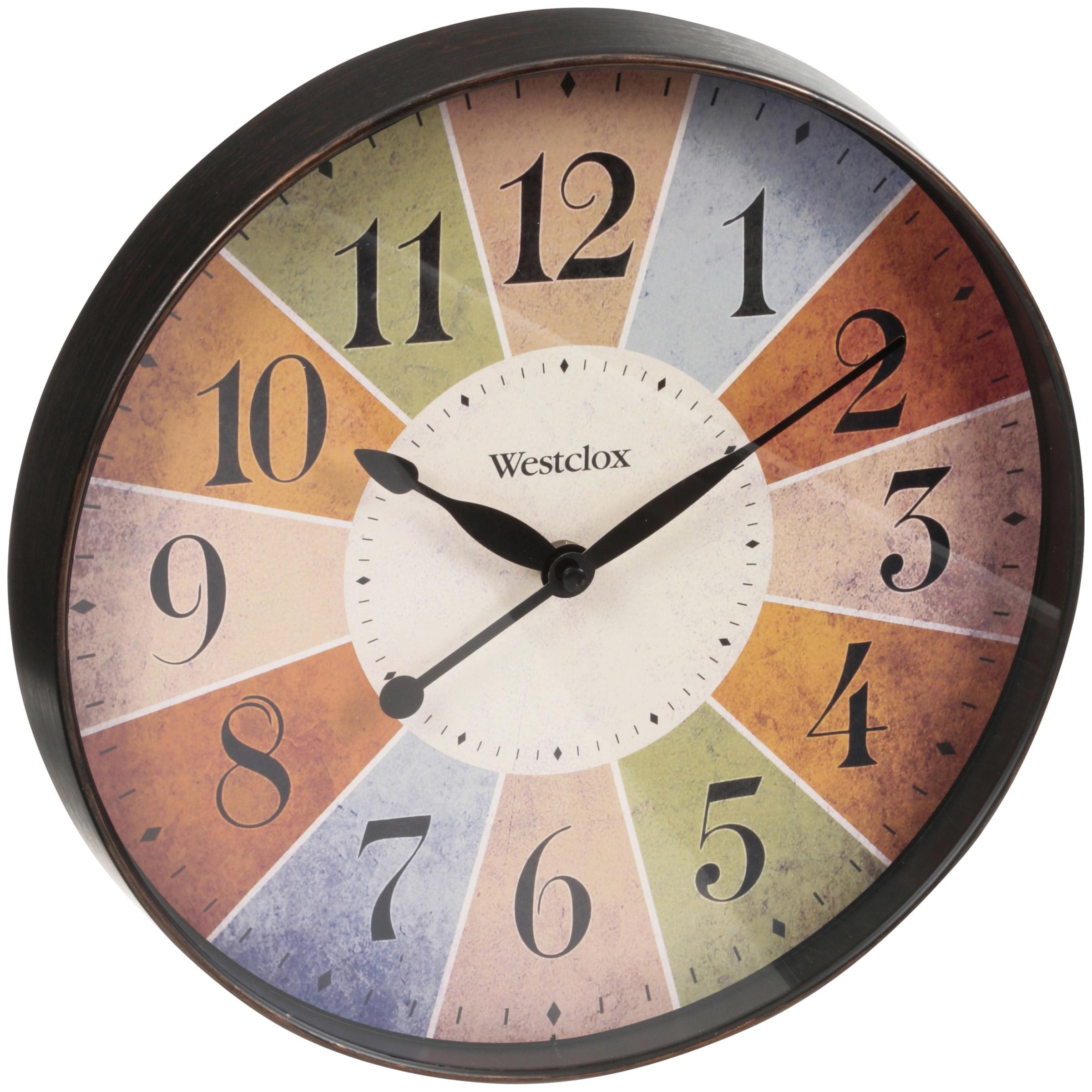"Westclox 12"" Multi-colored Quartz Wall Clock- Style# 32897"
