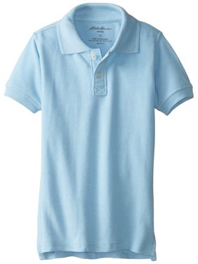 Eddie Bauer Boys 4-12 School Uniform Short Sleeve Pique Polo Shirt