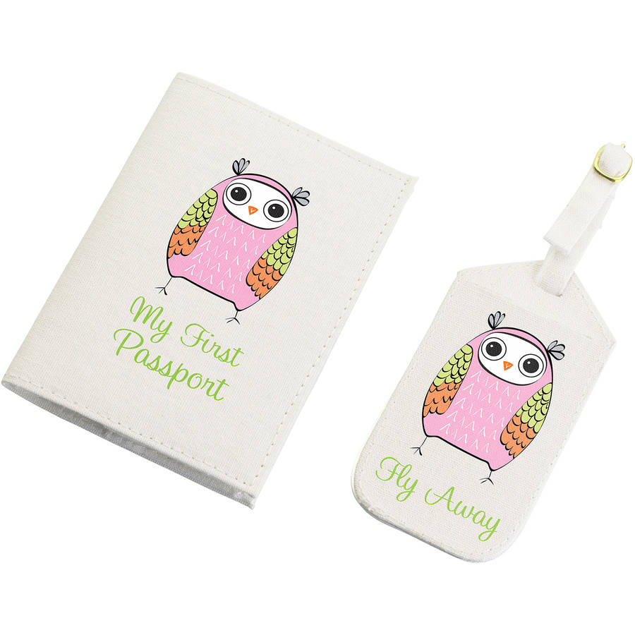 Lillian Rose Pink Owl Tag & Passport