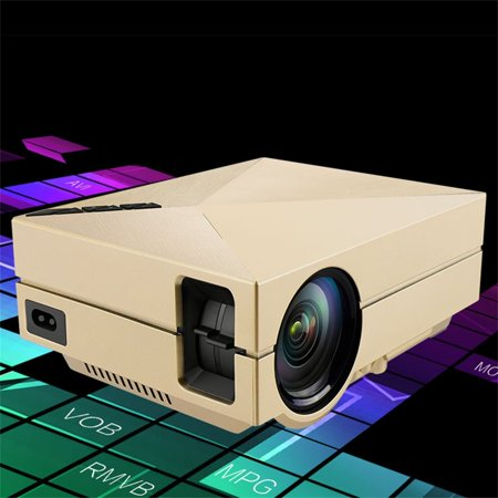 Mini Portable Home Cinema Theater Led Projector Hd 1080P Hdmi Av Usb Vga Professional Double Shooting And Protection Design