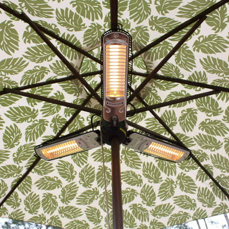 Fire Sense Umbrella Halogen Patio Heater ()