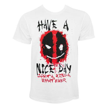 Marvel Deadpool Smiley Big Men's Graphic T-shirt, 2XL (Funny Deadpool Memes)