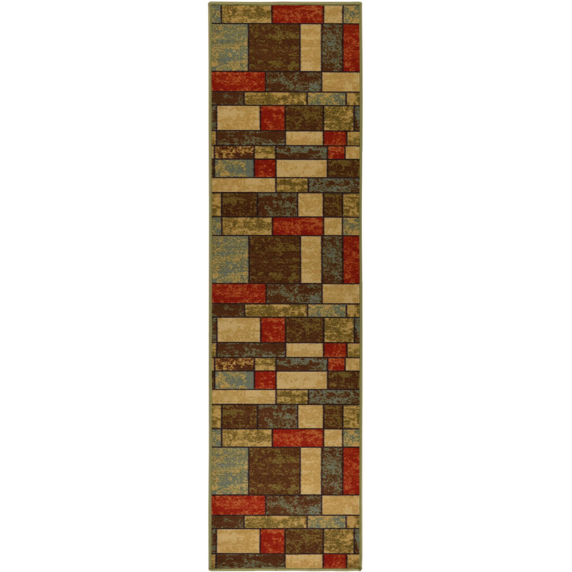 Ottomanson Ottohome Contemporary Boxes Non-Slip Rugs, Multi-Color