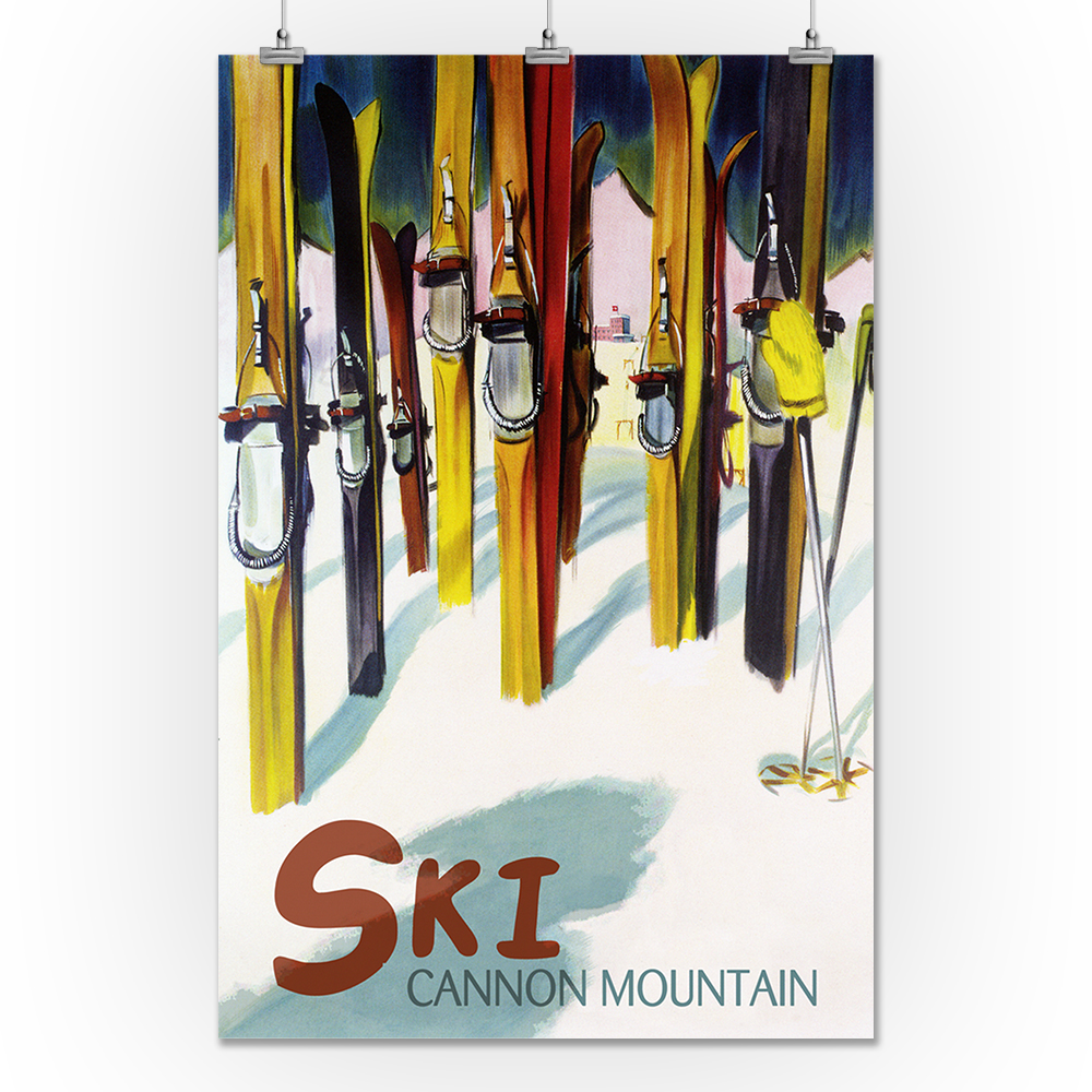 Cannon New Hampshire Ski United States Vintage Travel Advertisement Art Poster