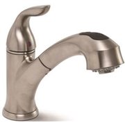 Waterfront Kitchen Pull Out Faucet Pvd Brushed Nickel, 8 In.