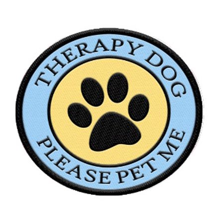 Therapy Dog Patch for Therapy Dog Vest or Harness Therapy Dog Vest