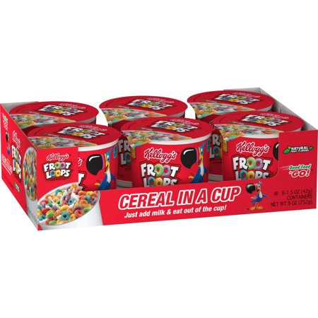 Kellogg's Froot Loops Breakfast Cereal, Original, Single Serve, 9 Oz, 6 Ct