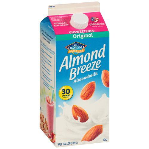 Blue Diamond Almond Breeze Original Unsweetened Almondmilk, 0.5 gal