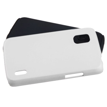 Insten Fusion Aluminum Dual Layer Silicone Cover Case For LG Google Nexus 4 - White/Black - image 2 de 3