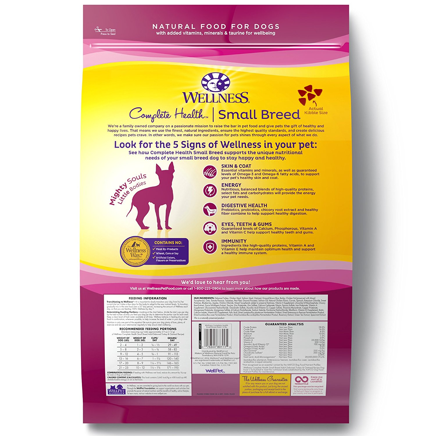 Wellness Complete Health Natural Dry Small Breed Dog Food Walmart Com