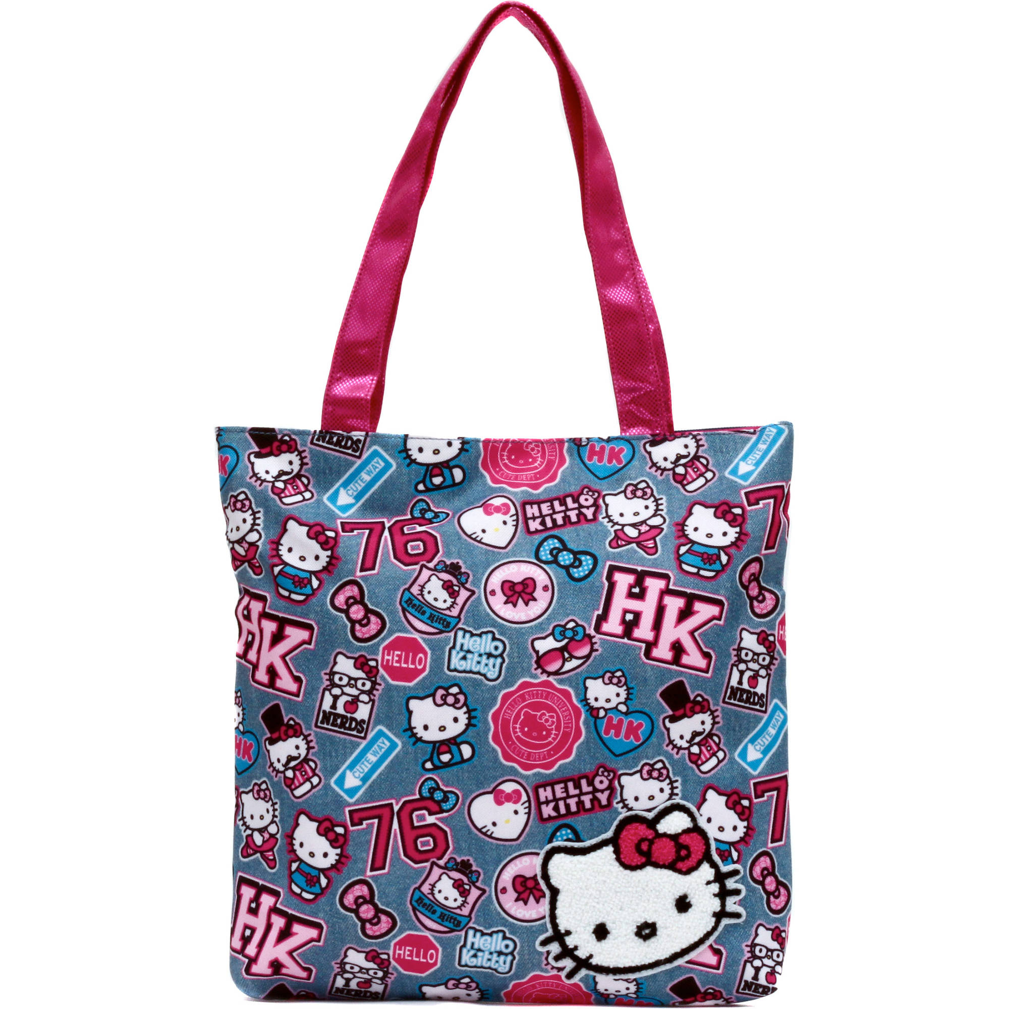 Hello Kitty Denim Patch Tote