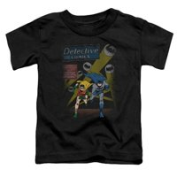 Batman-Dynamic Duo - Short Sleeve Toddler Tee - Black, Medium 3T