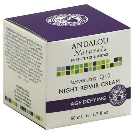 ANDALOU NATURALS Resveratrol Q10 Night Repair Cream 1.7 OZ