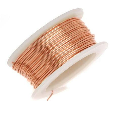 Artistic Wire, Copper Craft Wire 26 Gauge Thick, 15 Yard Spool, Bare Copper (Bare Cooper Wire)
