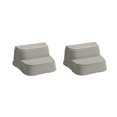 LifeSmart 2 Step Non Slip Rectangle Square Spa Hot Tub Straight Steps, (2 Pack) - image 6 de 6