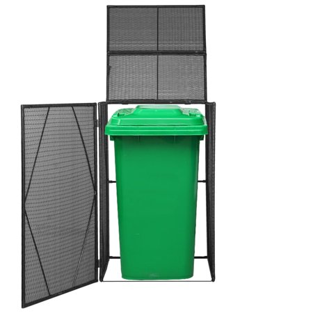 Single Wheelie Bin Shed Poly Rattan 29.9