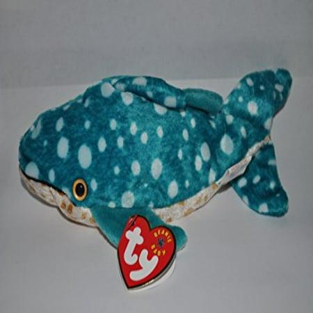 TY Poseidon the Whale Shark Beanie Baby by TY~BEANIES AQUATIC