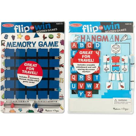 Melissa & Doug Flip to Win Set - Memory Game and Hangman