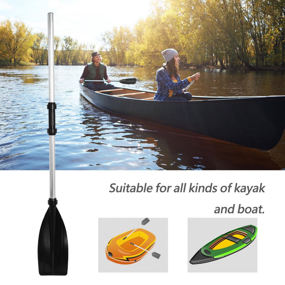 Lv. life 2Pcs Aluminium Alloy Detachable Lightweight Ribbed Blade Kayak Paddles Boat Oars , Lightweight Kayak Paddle